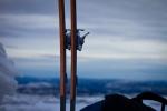 Ski opplinet på toppen. Bildet er tatt av Yngve Nordskag