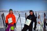 Mikael og Sindre i farta. Bildet er tatt av Yngve Nordskag.