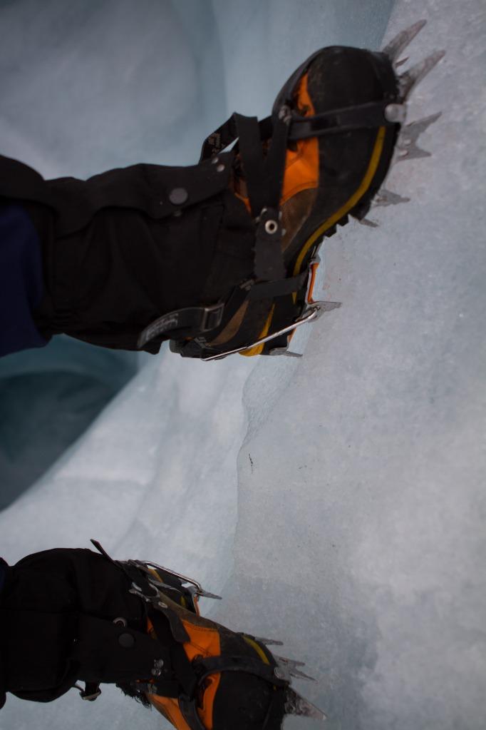 Stegjern kommer godt med på is.